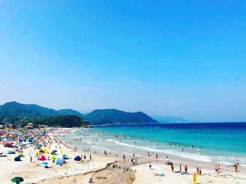 伊豆下田・白浜大浜海水浴場。トリップアドバイザーおすすめランキング本州一位のビーチで夏の海水浴を🏖