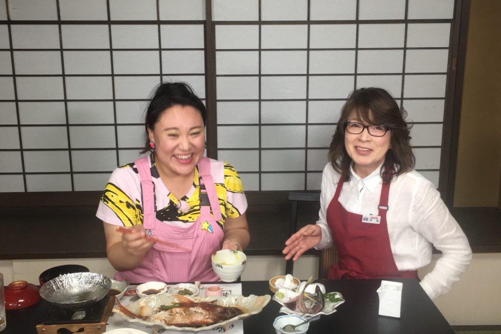 金目鯛まるごと一尾!伊豆郷土料理の金目鯛の姿煮を「美味しい!」と絶賛!ご満悦!