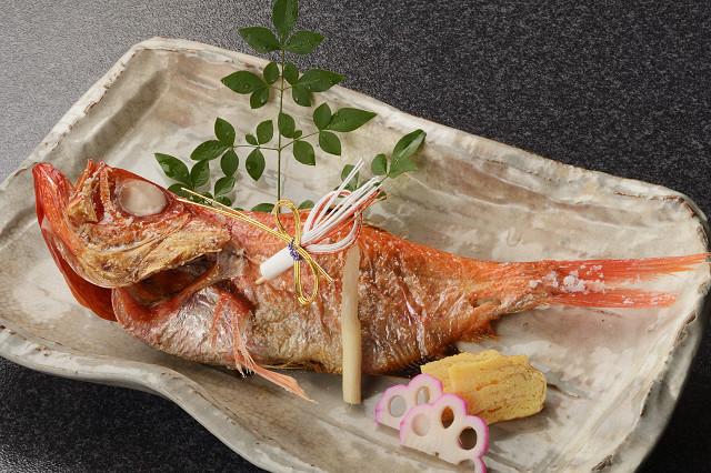 祝 金目鯛姿焼 3,000円(税別)