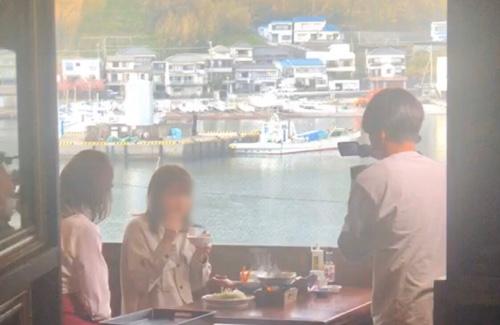 テレビ取材風景。テレビ取材 金目鯛まつり慶祝の宴TBS王様のブランチ放映 伊豆徳造丸