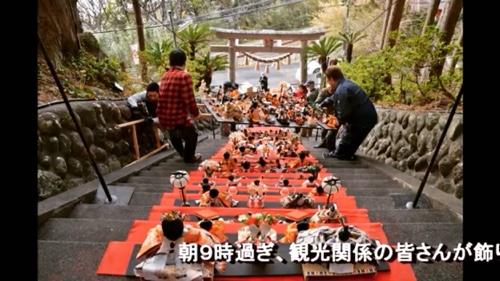 ① 伊豆稲取温泉発祥 雛のつるし飾りまつり 日本一ひな壇飾り118段