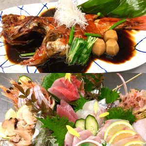 本日の金目鯛の姿煮とお造り 徳造丸本店 伊豆稲取港2021年4月18日